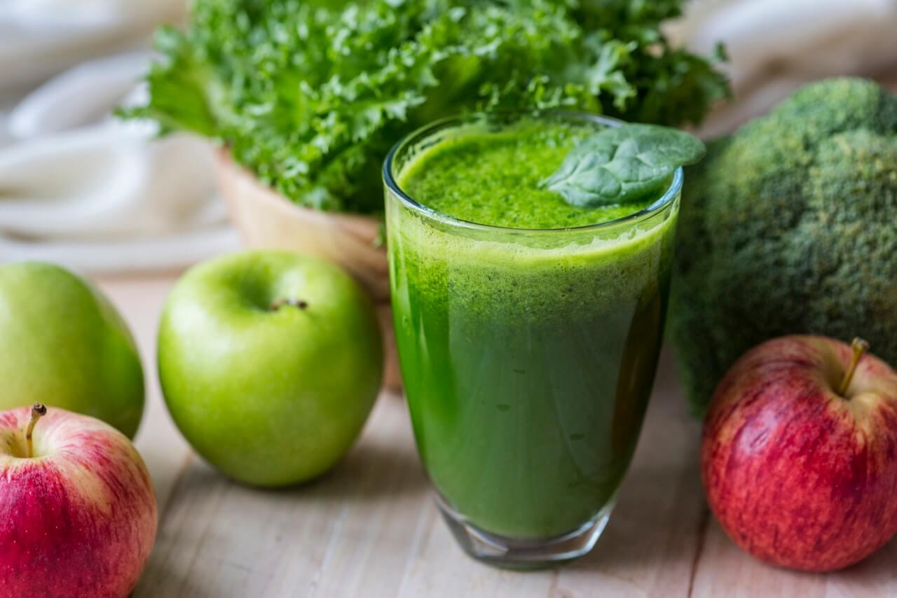 Zelené raňajkové smoothie