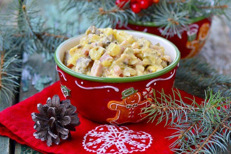 recept na vianočný zemiakový šalát