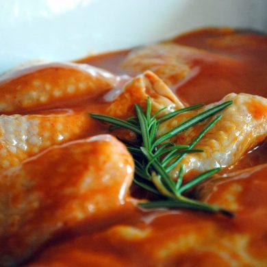 Ropogós Barbecue illatú sült csirke
