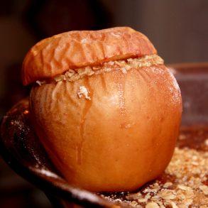 Jablká opekané na grile