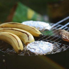 Grilovaný banán s lahodným mascarpone