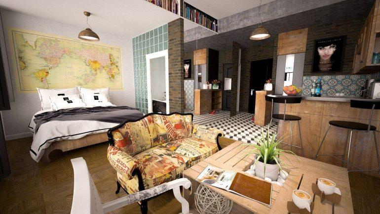 Spálňa v obývačke